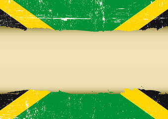 Jamaican scratched flag