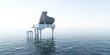 Piano, Musik, Sound, Wasser, Meer, Klang
