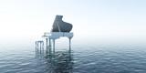 Fototapety Piano, Musik, Sound, Wasser, Meer, Klang