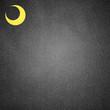 moon paper art on black