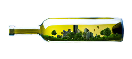 city in bottle