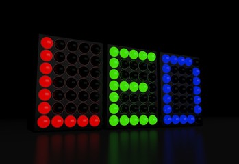 RGB LED technology display