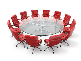 Concept of business meeting or brainstorming.