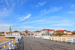 View from the pier on architecture of Sopot, Poland