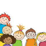 Vector Illustration of Small Kids