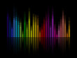 Vector Illustration of a Colorful Music Equalizer