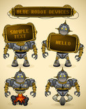 Blue vintage robot devices