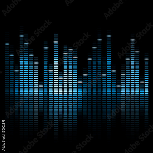 Vector Illustration of a Blue Music Equalizer