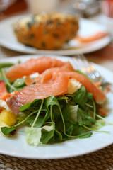 Salad with Smoked Salmon