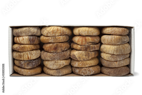 Dried figs in a box