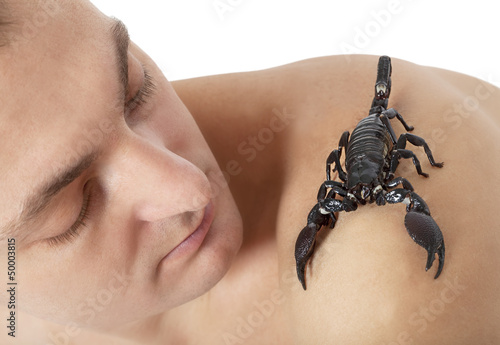 Man with scorpion