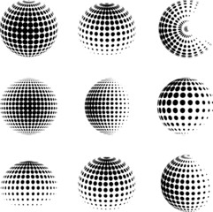 Collection of halftone spheres