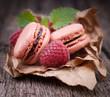 Macarons, Himbeere