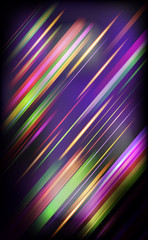 Striped abstract design on dark background.