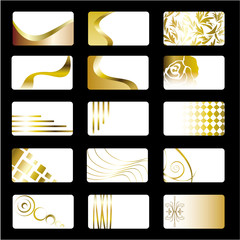 Golden Business Cards Set