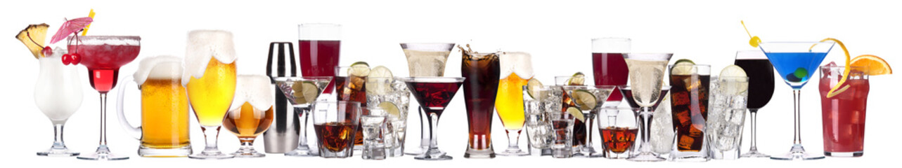 different images of alcohol isolated