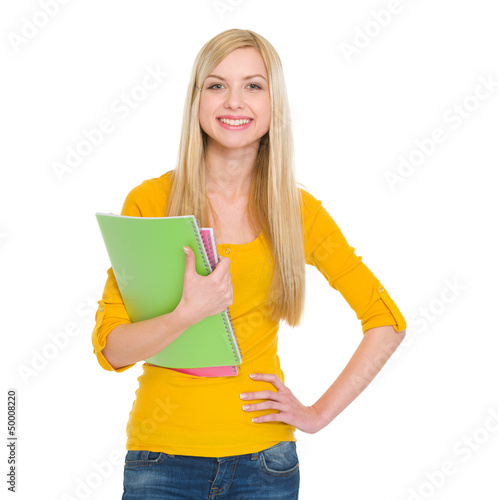 Portrait of happy student girl