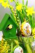 nid de pâques en vert