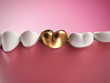 3d rendered illustration of a golden tooth