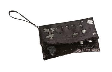Black and white sequins handbag