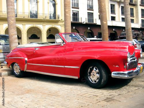Old red car in Havana n.2 - 50010419