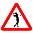 Danger sign - Golf player