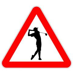 Danger sign - Golf player