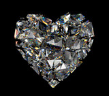 crystal glass broken heart