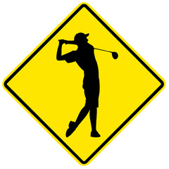 Golf - yellow sign