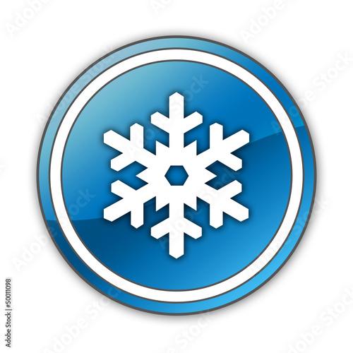 "Glossy Button ""Winter Recreation"""