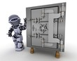 Robot with Bank vault