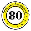 eighties underground stamp