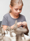 Little girl sculpts