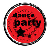 dance party stamp