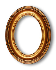Golden oval frame