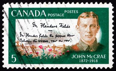 Postage stamp Canada 1968 Lt. Col. John McCrae