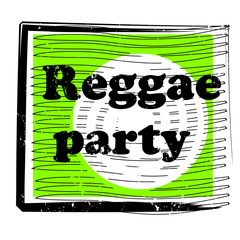 reggae party stamp