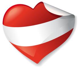 Herz Sticker Österreich