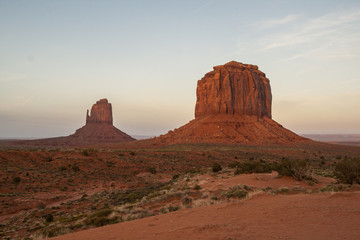 Dusk view of Monument Valley