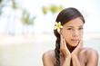 Wellness beauty portrait of relaxing serene woman