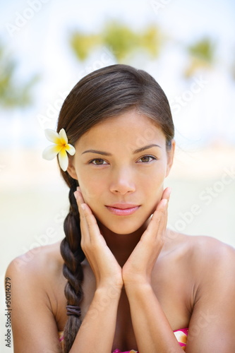 Spa woman wellness beauty woman portrait