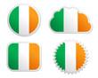 Fahne Irland Sticker