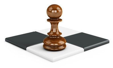 3d chess squares with pawn