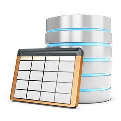 3d database table