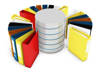 3d database with file holders