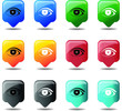 Eye Web Icons Buttons