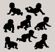 Baby Silhouettes Vector - 50016204
