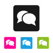 Chat  icon - vector colored rounded square shape icon