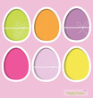 Easter eggs, happy easter card. Vector illustration.