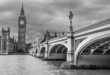 London. Wonderful view of Westminster bridge with Big Ben and Ho